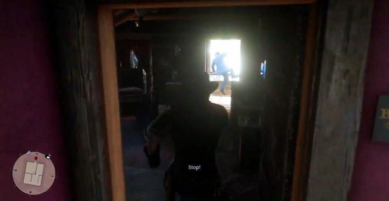 Преступник Керк сигает в окно