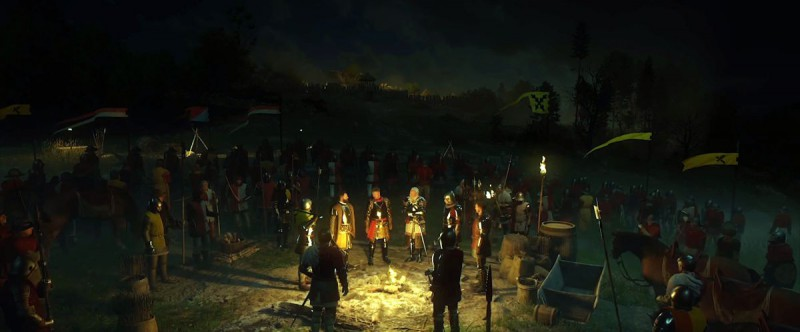 Перед атакой на лагерь бандитов