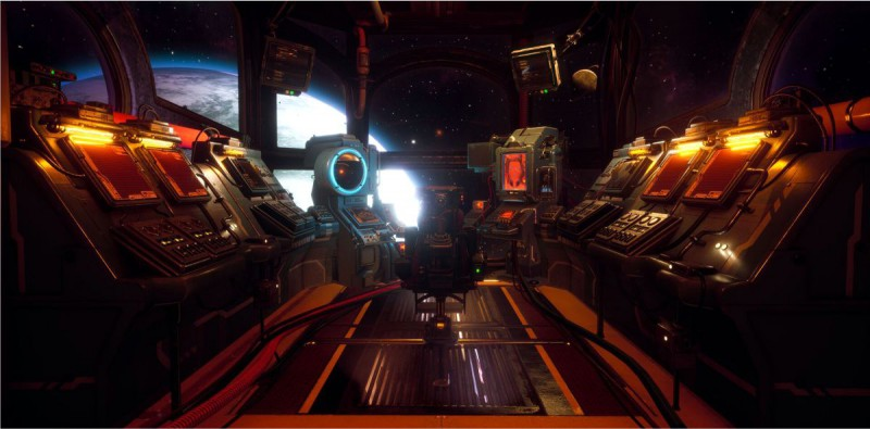Внутри космического корабля