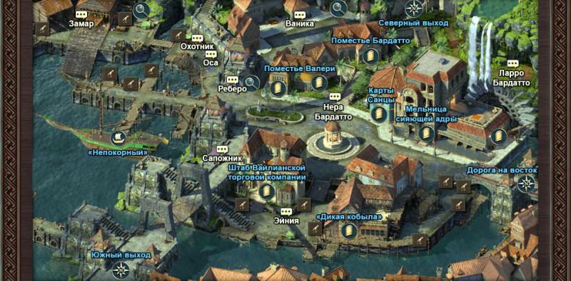 Карта Причала Королевы