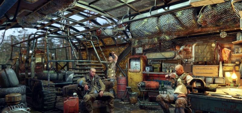 Мужики и местная мастерская