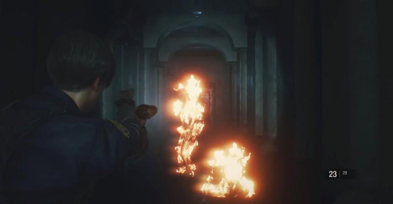 Наступление горящих зомби