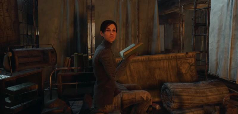 Аня читает книжку