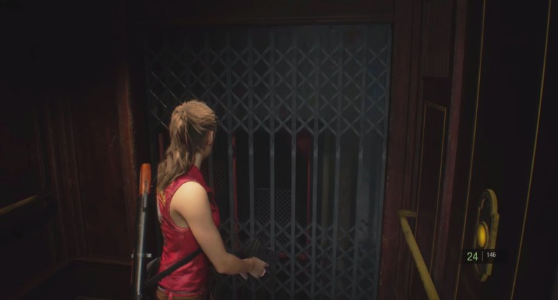 Спуск на лифте
