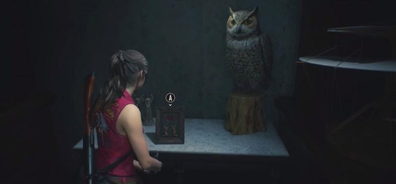 Картина возле совы