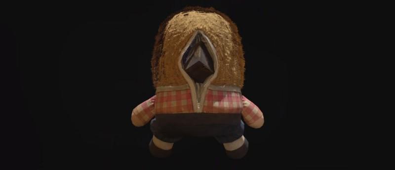 Кубик внутри плюшевой куклы