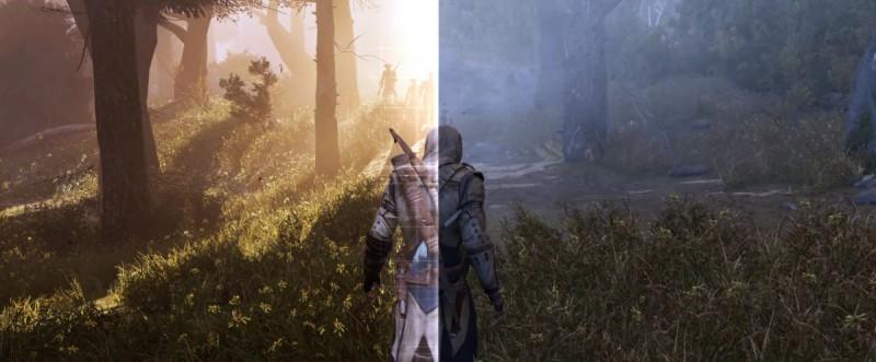 Разница в графике между версиями игры