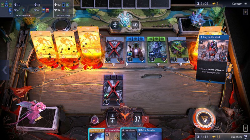 Скриншот из игры Artifact