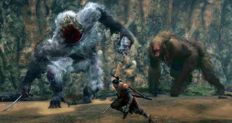 Сражение с двумя обезьянами