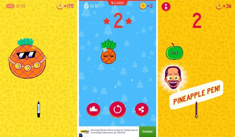 Скриншоты игры Pineapple Pen
