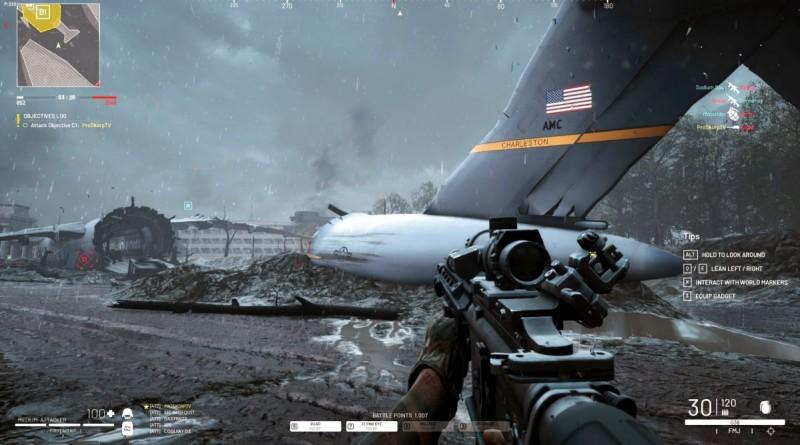 Бои возле разбитого самолета
