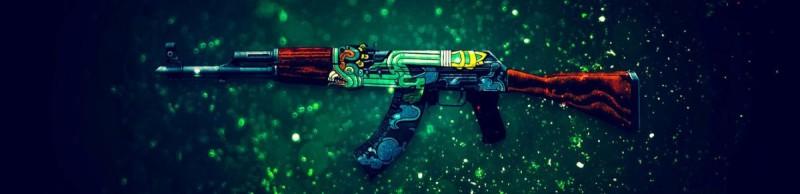 Автомат AK-47 Огненный змей