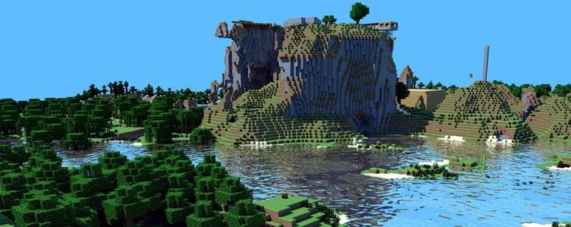 Зеленый мир Майнкрафта