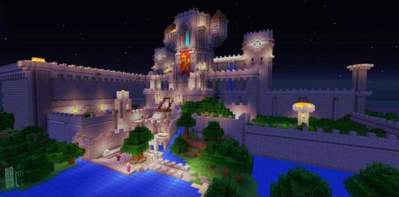 Потрясающей красоты замок в Майнкрафт