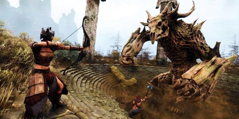 Бой с костяным чудовищем