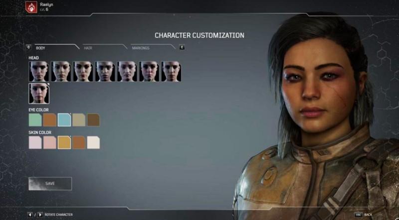 Кастомизация персонажа