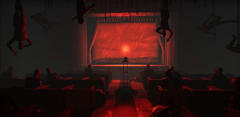 Красный кинозал