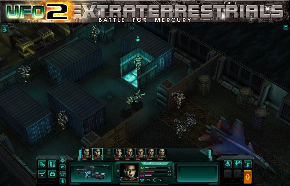 Screenshot ze hry ufo2extraterrestrials: shadows over earth